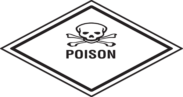 graphic symbol with poison written below