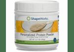 bottle of ShapeWorks soy protein powder