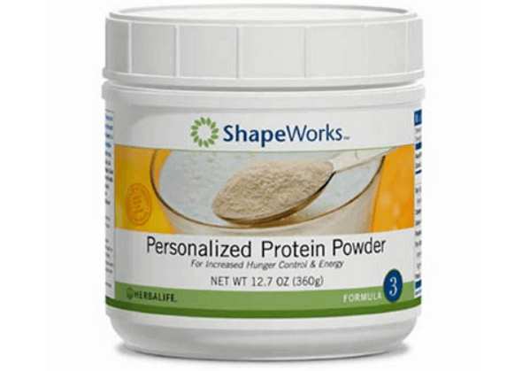 bottle of ShapeWorks soy protein powder