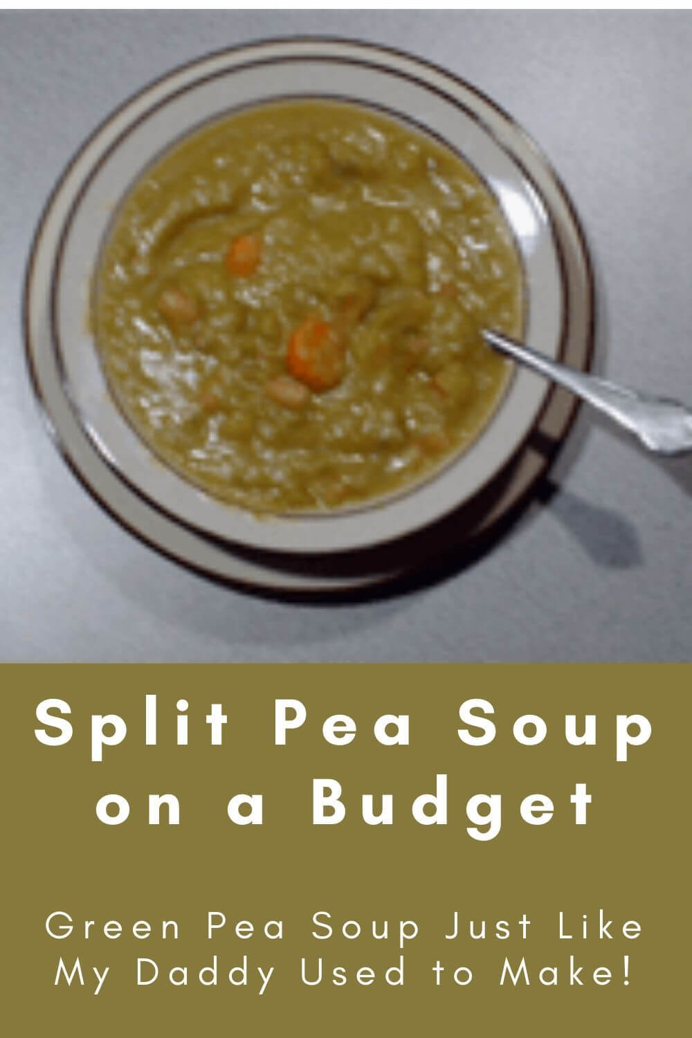 Split GREEN peas soup on a budget