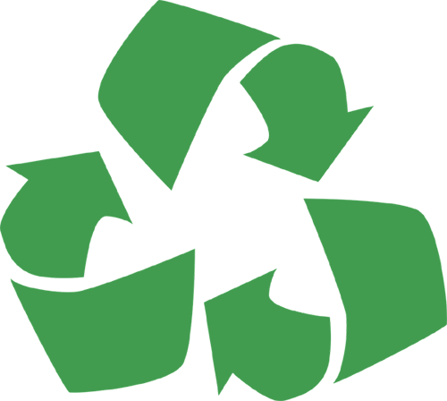recycle logo used as a header image