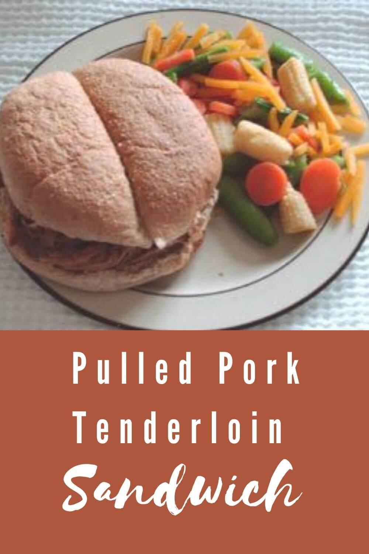 Pulled Pork Tenderloin Sandwich