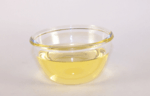 glass bowl with oil in it