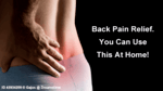 someone's lower back pictured with red around where pain is being felt