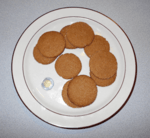 my gingersnaps with a two dollar coin used to show size of cookies - used as a header imag