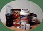 smoothie ingredients PLUS equipment used as header image