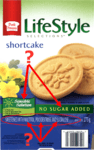 picture of the box from Life Style's shortcake cookies pointing to the potential toxins within