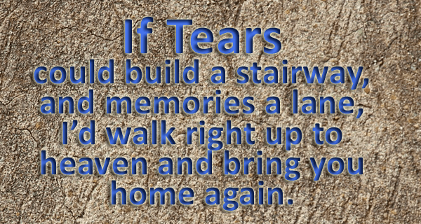 If Tears poem used as a header image