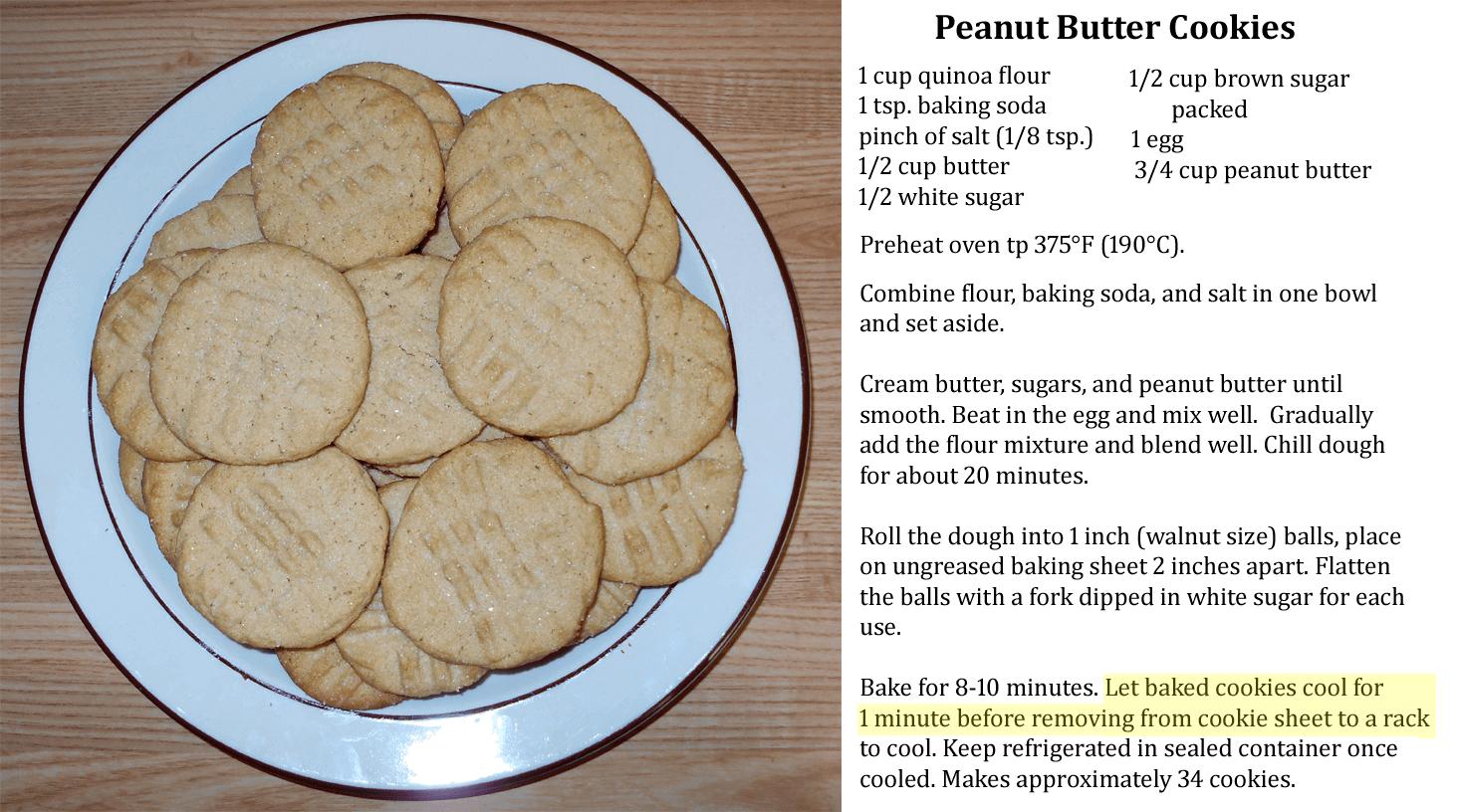 peanut butter recipe card