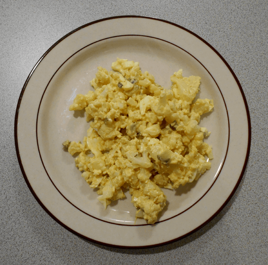 a picture of my cauliflower egg salad, used as a header image