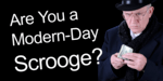 a man who looks like Scrooge, holding cash, used as a header image