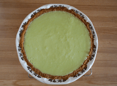 a photograph of my keylime pie used as a header image