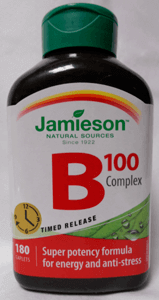 a picture of a bottle of Jamieson B 100 Complex supplements