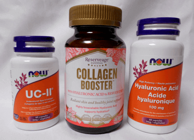 UC-11, Collagen Booster, and Hyaluronic Acid - 3 supplements required after the first injection
