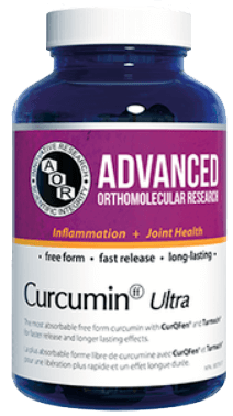 a bottle of Advanced Orthomolecular Research Curcumin Ultra by AOR