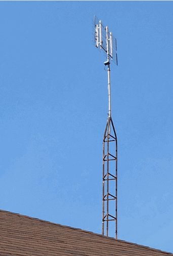 outdoor TV tower with HD antenna on top