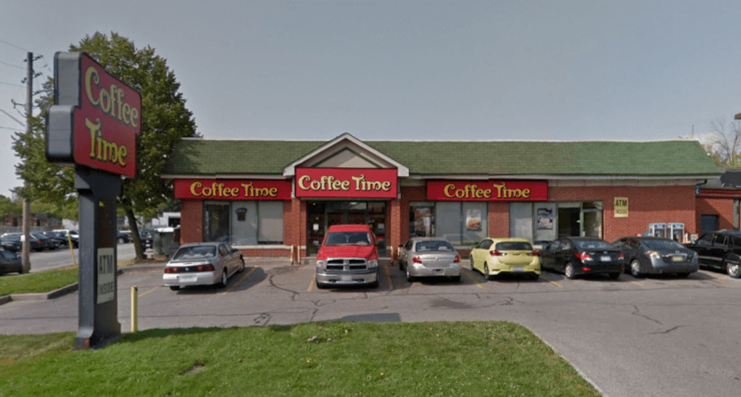 Coffee Time shop at 410 Ritson Rd. N., Oshawa