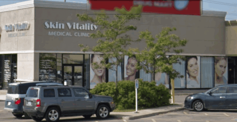 store front of Skin Vitality Medical Clinic in Ajax, Ontario