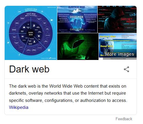 screen print of Dark web explained