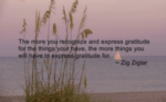 a quote by Zig Ziglar over top an image