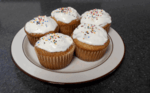 maple syrup cupcakes on a plate