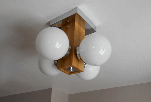 a light fixture from older kitchen
