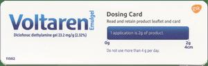Voltaren's Dosing Card