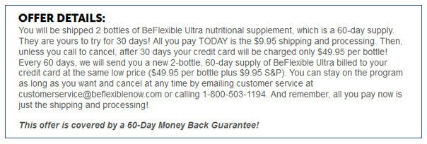 BeFlexible's Offer Details